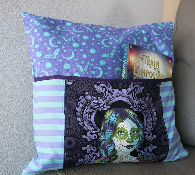 Luna Lovequilts - Reading pillow in De La Luna collection by Tula Pink