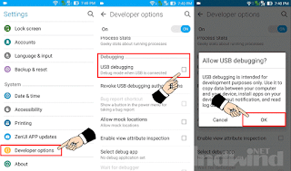 Mengaktifkan USB debugging di hp ASUS
