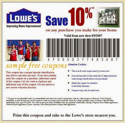image regarding Lowes Coupon Printable titled Lowes Residence Advancement Coupon codes