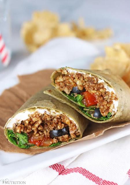 Vegan Taco Wrap with Walnut Meat