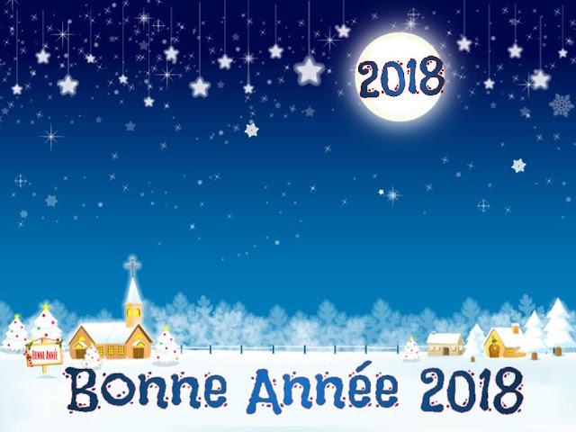 Carte Bonne année 2018