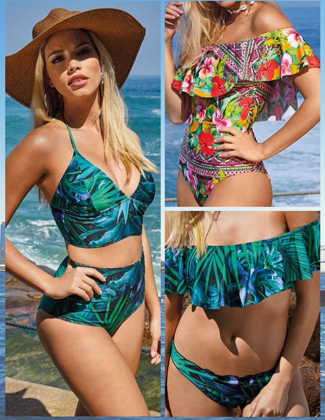 f45b5032a Os Babados e estampas marcam presença na coleção de moda praia verão 2018  da DeMillus.