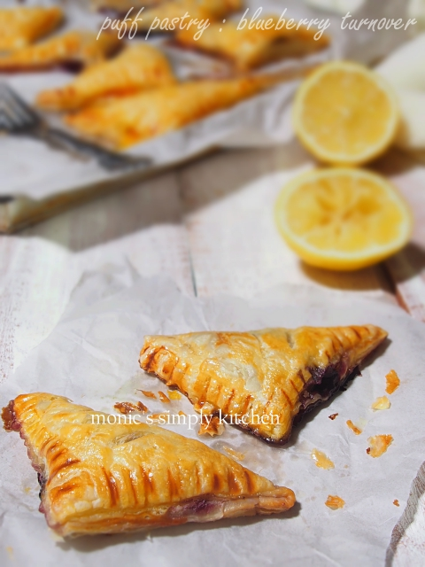 blueberry turnover puff pastry instan