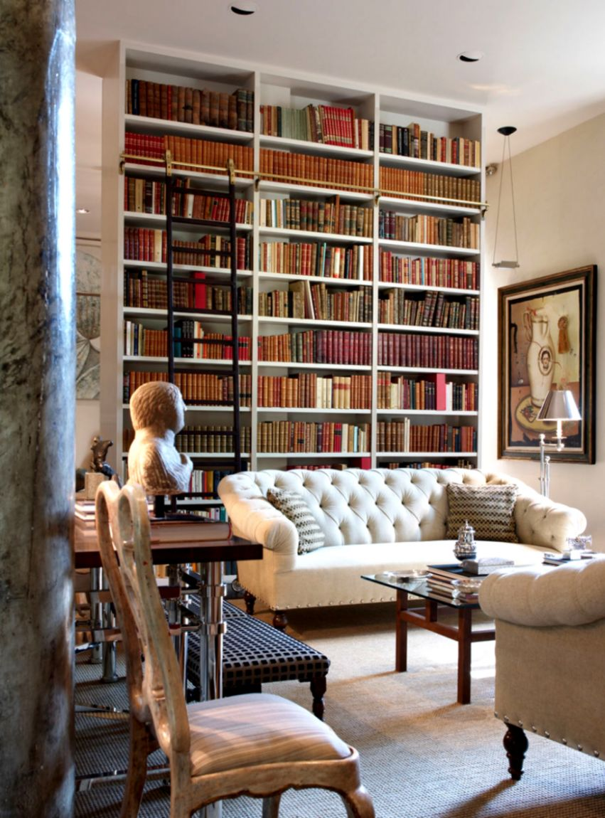 Home Design Library Room Wallpapers