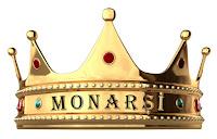 Üzerinde monarşi sözcüğünün yazdığı bir kral tacı
