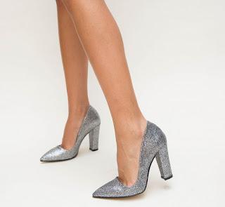 Pantofi Sindal Gri eleganti si ieftini moderni