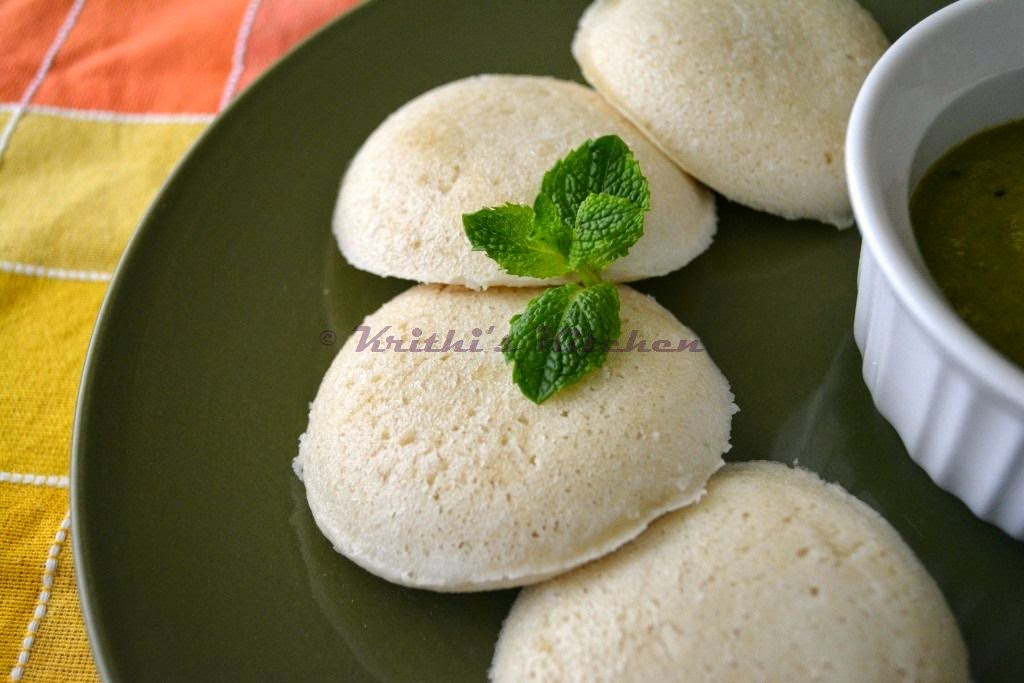 Krithi's Kitchen: Brown Rice Idli | Idli Dosa Recipes