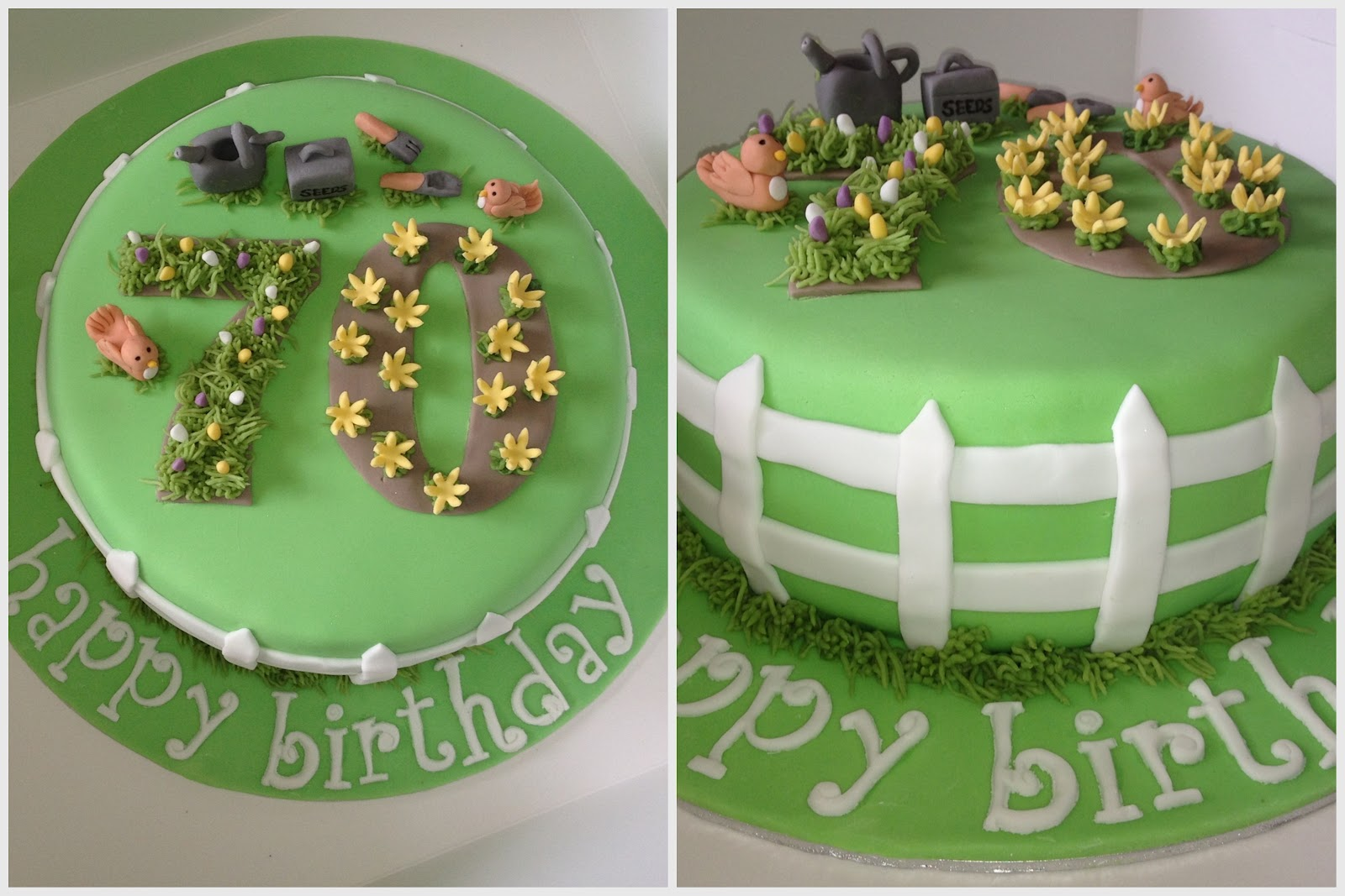 The Bohemian Bakery Gardening Themed Cake