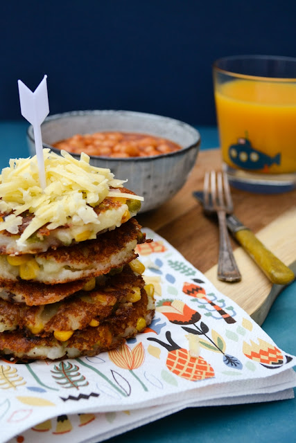 Cheesy Vegetable Potato Cakes