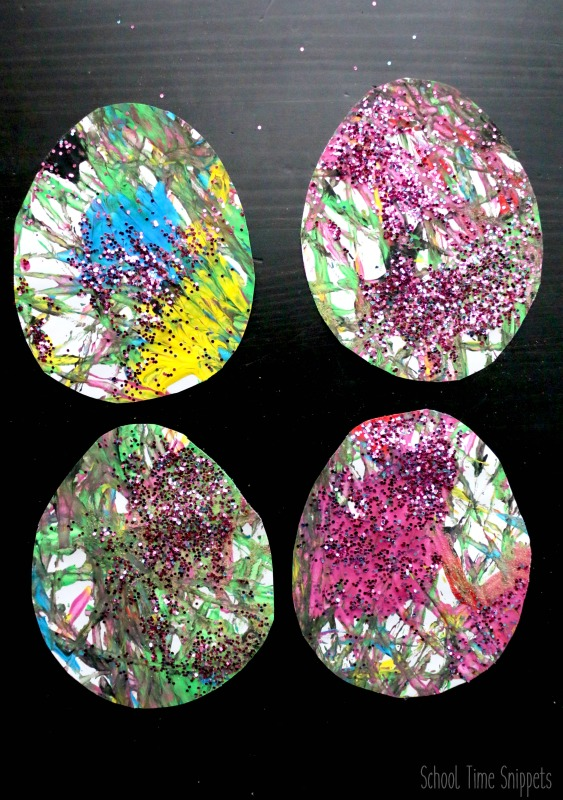 Easter Egg Marble Painting