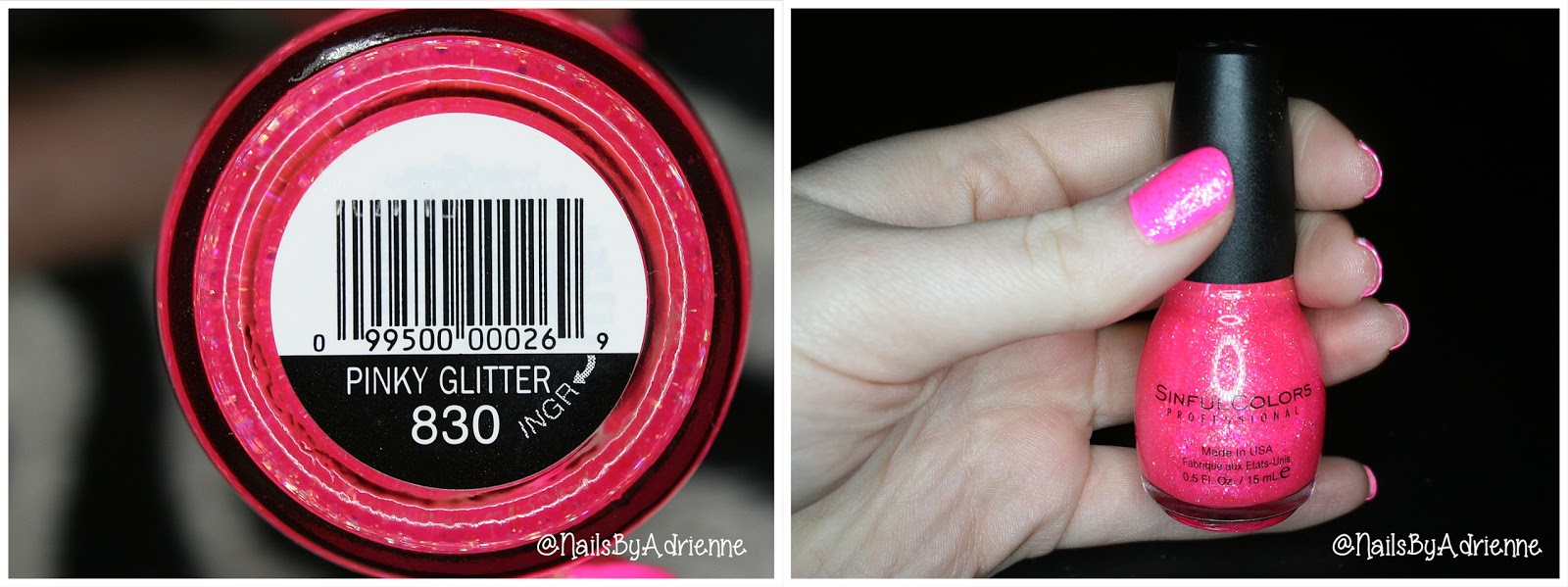 Nails By Adrienne Nail Polish Review Sinful Colors Pinky Glitter