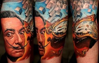 Tatuaje de Salvador Dalí
