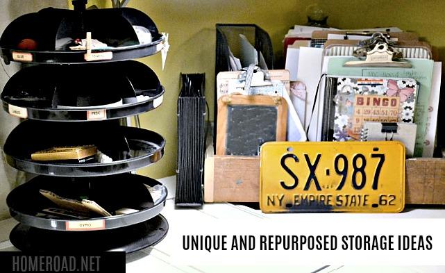 Unique Repurposed Storage Ideas