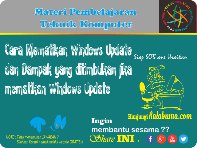 Cara Menonaktifkan Windows Update