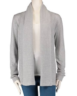 gray shawl collar cardigan