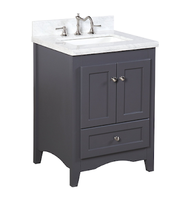 Kitchen Bath Collection Abbey Vanity in Charcoal