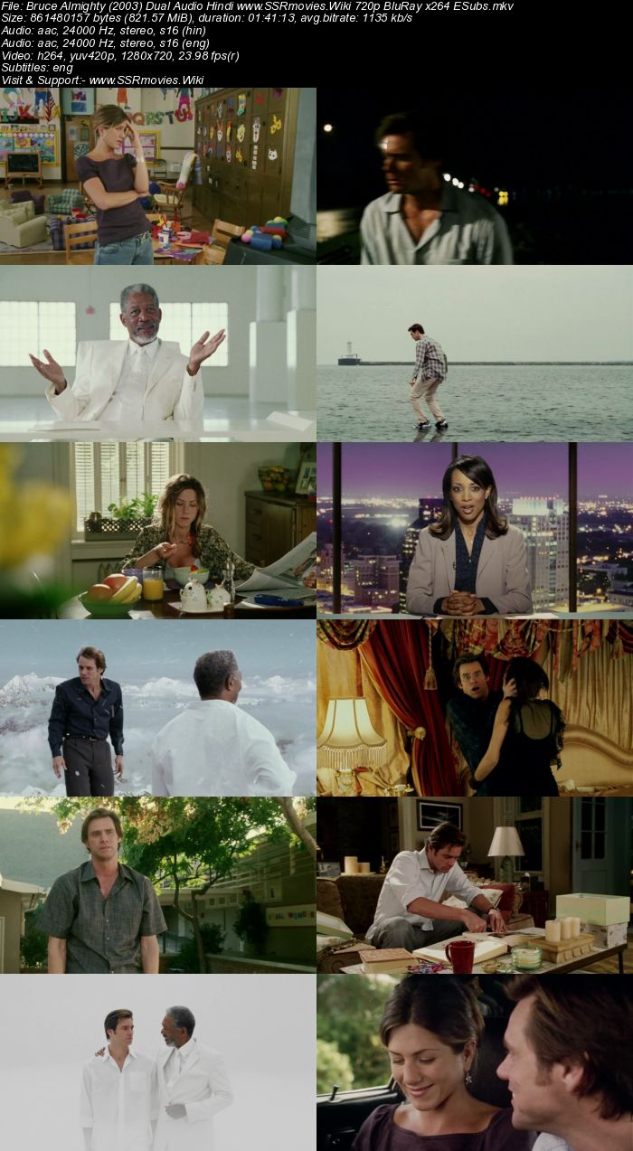 Bruce Almighty (2003) Dual Audio Hindi 720p BluRay 800MB ESubs Movie Download