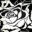 Art Class - Black and White Rose