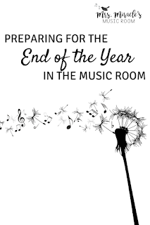Preparing for the end of the school year in the music room, from organizing your lessons to using technology to organize your ideas