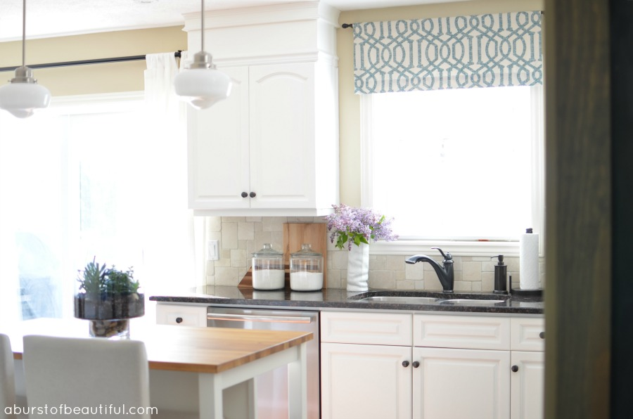 kitchen window valance centerpiece for table diy a burst of beautiful