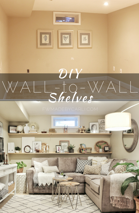 DIY wall to wall shelving