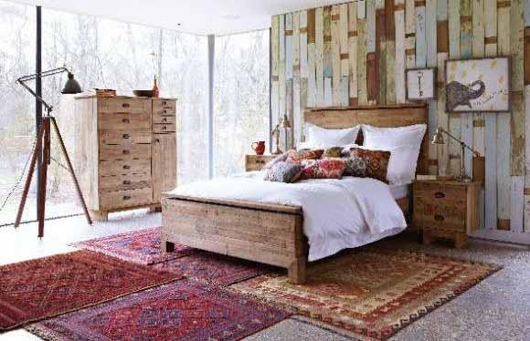 Dekorasi kamar tidur rustic