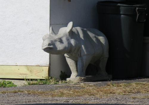concrete rhinocerous
