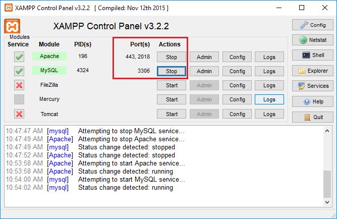 Hướng dẫn đổi port localhost trên xampp 3