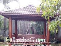 Gazebo Minimalis Kayu Pohon Kelapa Khas Jepara