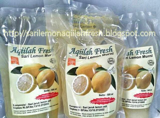 Aqiilah Fresh Sari Lemon Murni Kemasan Pouch 500 ml
