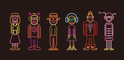 BBTAN neon karakterler