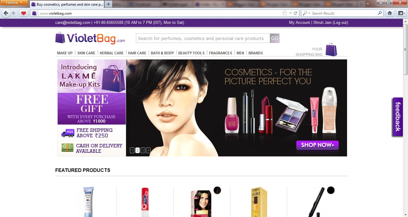 Online Beauty Stores in India - Style Destino
