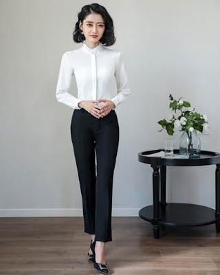 moda coreana formal para el trabajo