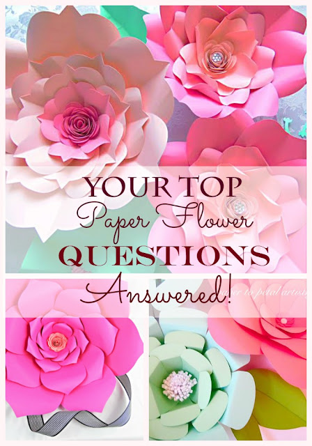 how to make large backdrop paper flowers for weddings and baby showers