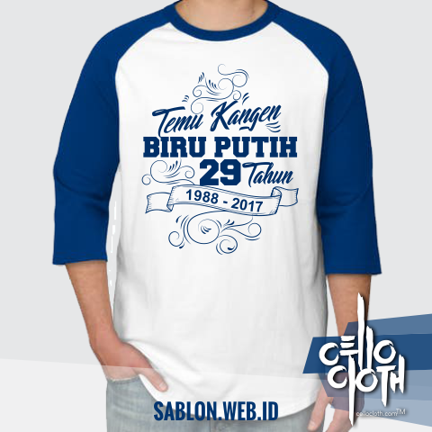 Desain Kaos Reuni Temu Kangen Biru Putih Sablon Kaos Online