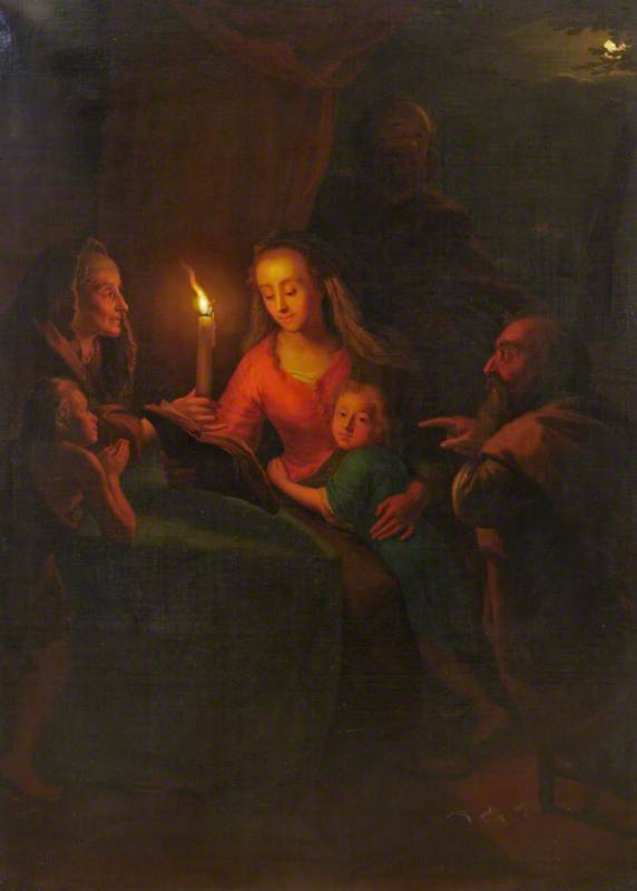 Lendo as Escrituras - Petrus van Schendel e suas pinturas ~ Especialista em cena noturna