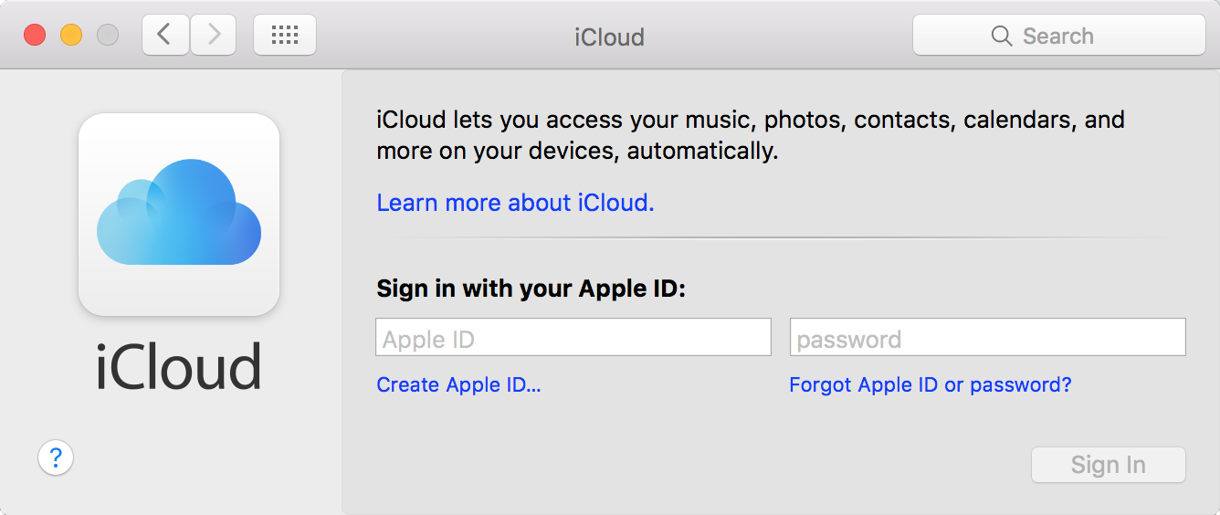 the login to my apple icloud account onto contract
