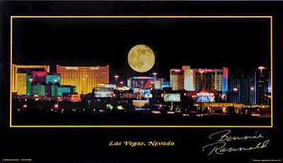 Full Moon Over Las Vegas Poster