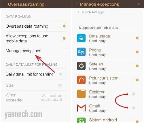 Cara Mematikan Penggunaan Data Internet di Aplikasi Android Tertentu