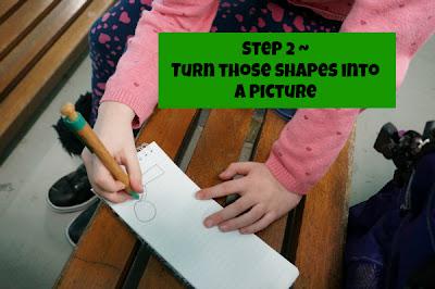kid drawing shapes