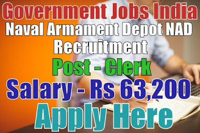 Naval Armament Depot NAD Recruitment 2017