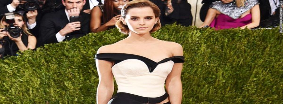Emma Watson , un vestido hecho de basura