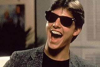 Tom Cruise wearing Ray-Ban Shades in the 80s