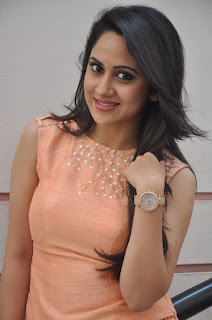 Actress Miya George Stills at United Kireeti Movies Ltd Production No 8 Movie Opening 0006.jpg
