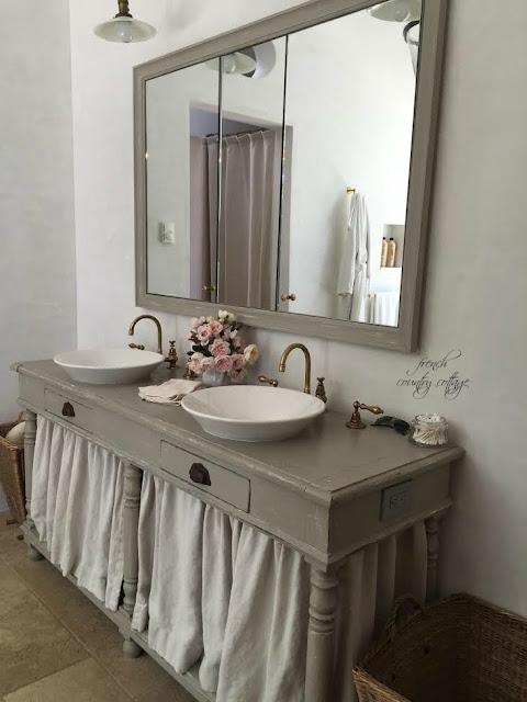 Bathroom with rustic sink area