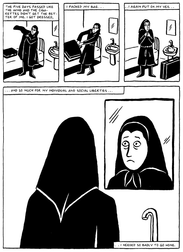 Read Chapter 9 - The Veil, page 91, from Marjane Satrapi's Persepolis 2 - The Story of a Return