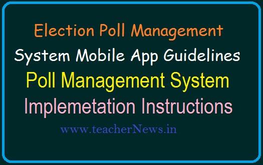Election Poll Management System Mobile App Guidelines |  Implementing Poll Management System