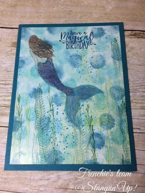 Glossy paper, Magical Mermaid, Stampin'Up!