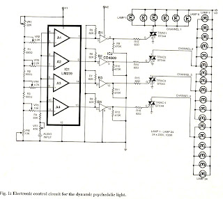 4 Channel Music Operated Triac Psychedelic Lighting