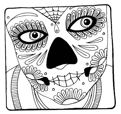 cool halloween skull coloring pages - photo#42